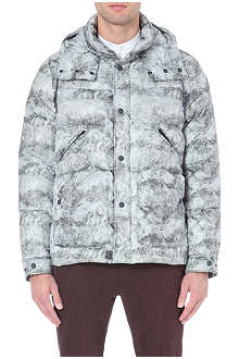 MONCLER Snowstorm-print quilted coat