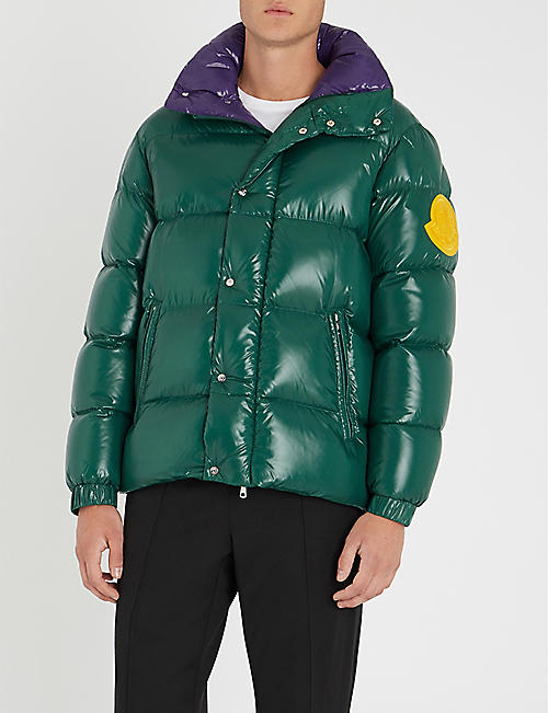 moncler blue down jacket