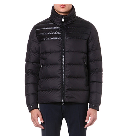 MONCLER Dinant panelled quilted jacket (Black