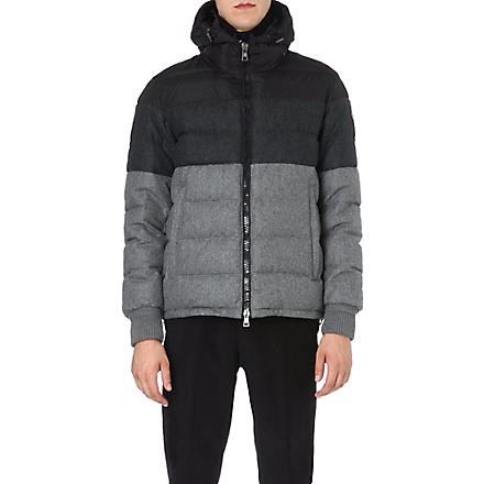 MONCLER Harvey colourblocked quilted jacket (Grey