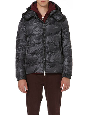 MONCLER Himalay mountain-print quilted jacket