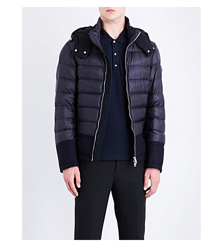 MONCLER Riom quilted shell jacket (Navy