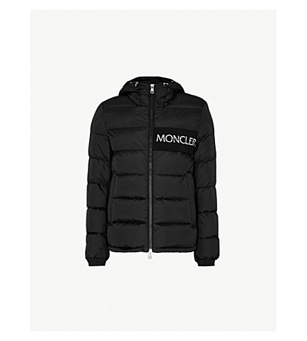 MONCLER Hooded shell-down jacket (Black