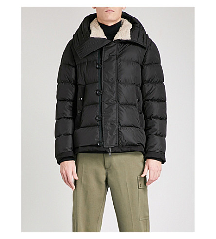 MONCLER Pyrenees quilted down and feather-blend jacket (Black
