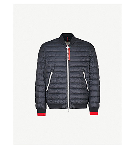 MONCLER Deneb quilted shell-down bomber jacket (Navy