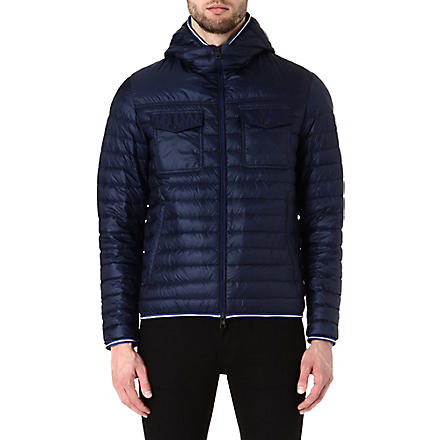 MONCLER Clovis hooded quilted jacket (Navy