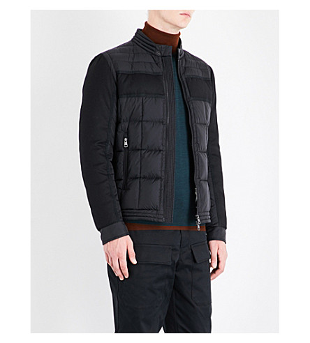 MONCLER Quilted nylon biker jacket (Black