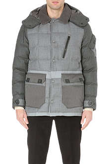 MONCLER Colourblocked quilted jacket