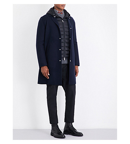 MONCLER Raymi wool and cashmere-blend coat (Navy