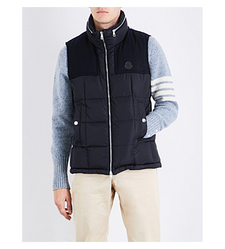 MONCLER Cesar quilted shell-down gilet (Navy