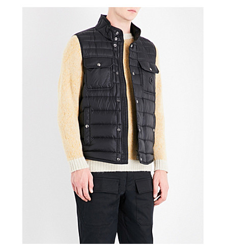 MONCLER Quilted shell gilet (Black