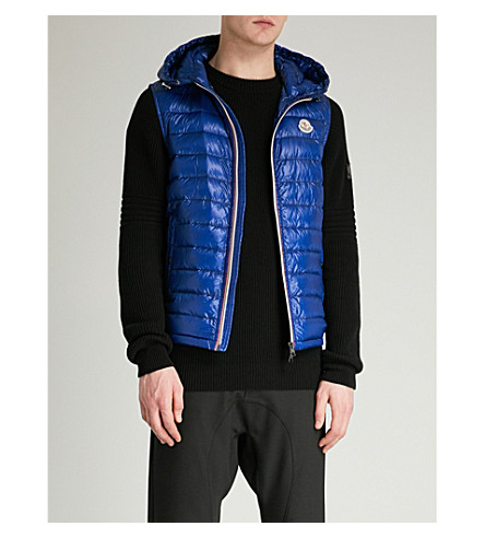 ... MONCLER Gien hooded shell-down gilet (Bright+blue. PreviousNext
