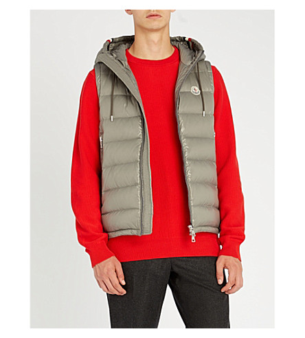 MONCLER Quilted down-filled shell gilet (Grey