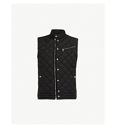 MONCLER Quilted down-filled shell gilet (Black