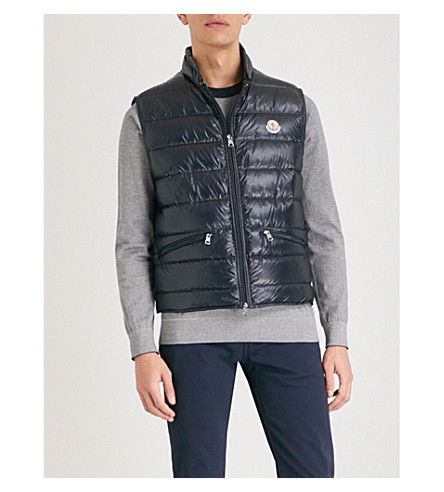 MONCLER Gui quilted shell-down gilet (Navy