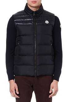 MONCLER Duperes panelled quilted gilet
