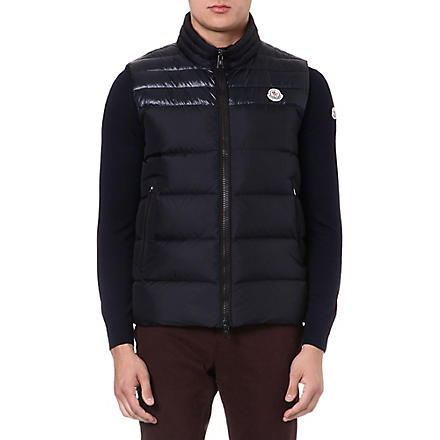 MONCLER Duperes panelled quilted gilet (Navy
