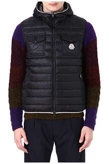 MONCLER Gers hooded quilted gilet