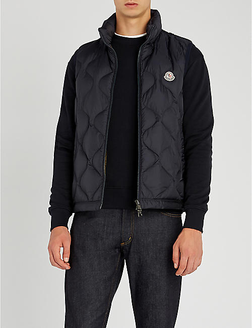 MONCLER Allemont quilted shell and down-blend gilet