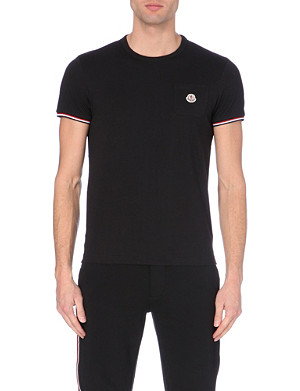 MONCLER Branded cotton-jersey t-shirt