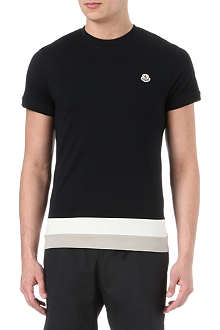 MONCLER Striped-panel t-shirt