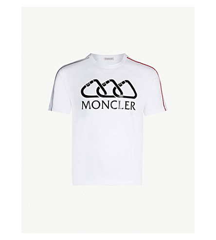 MONCLER Clip logo-embossed cotton-jersey T-shirt (White