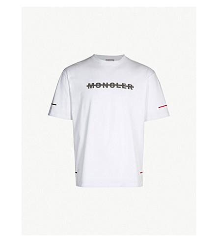 MONCLER Reflective logo-print cotton-jersey T-shirt (White