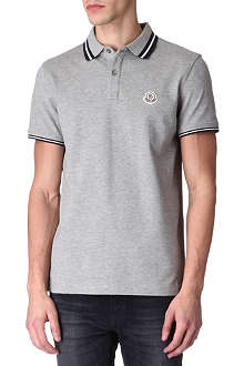 MONCLER Striped-tipping polo shirt