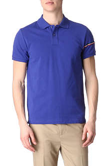 MONCLER Striped-arm polo shirt