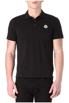 MONCLER Stand-up collar polo shirt