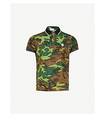 MONCLER Camouflage pattern cotton-piqué polo shirt (Camo