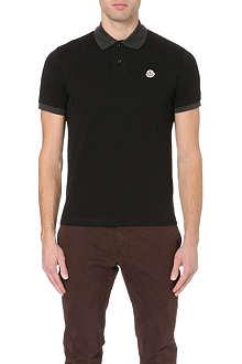 MONCLER Logo-embroidered cotton-piqué polo shirt
