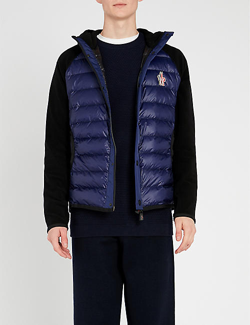 MONCLER GRENOBLE Hooded shell-down and fleece jacket