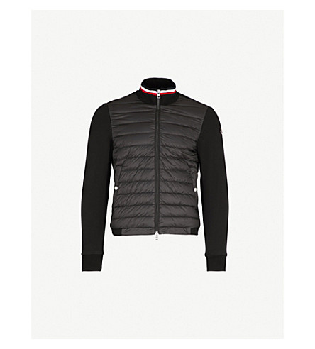 MONCLER Quilted shell and cotton-blend jacket (Black