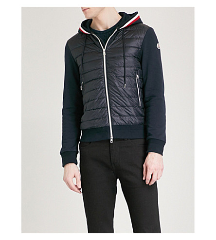 MONCLER Hooded quilted shell jacket (Navy