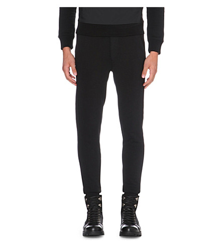 MONCLER Classic cotton-jersey jogging bottoms (Black