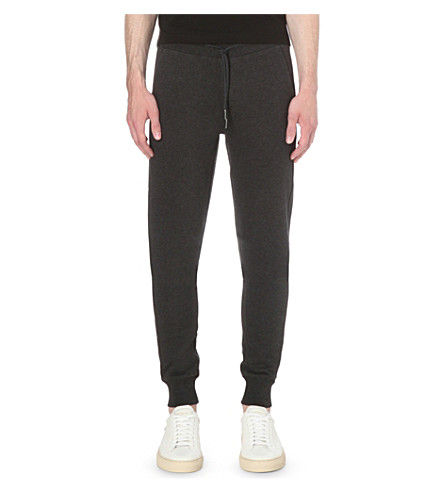 MONCLER Classic cotton-jersey jogging bottoms (Dark+grey