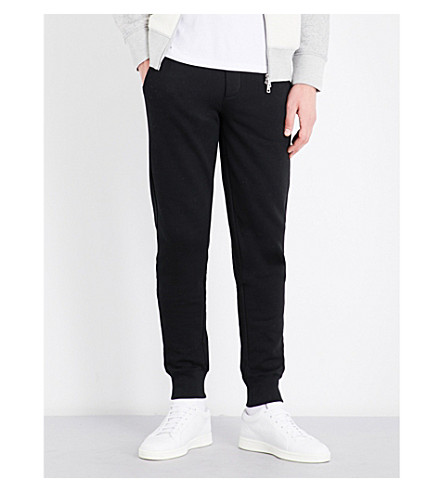MONCLER Elasticated-cuff cotton-jersey jogging bottoms (Black