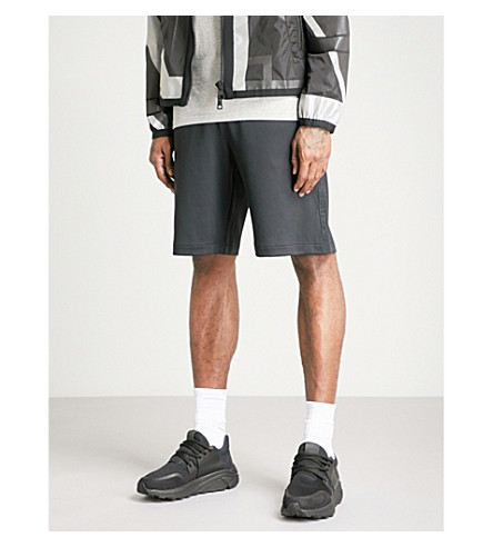 MONCLER Logo-tape woven shorts (Black