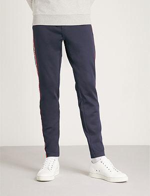 MONCLER Striped-side sports-jersey jogging bottoms
