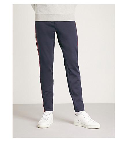 MONCLER Striped-side sports-jersey jogging bottoms (Navy