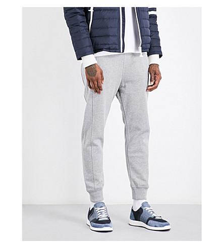 MONCLER GAMME BLEU Panelled cotton-jersey jogging bottoms (Medium+grey