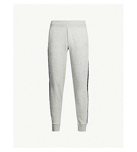 MONCLER Side-stripe cotton-jersey track pants (Grey