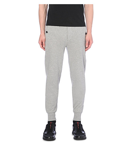 MONCLER Cotton-jersey jogging bottoms (Grey