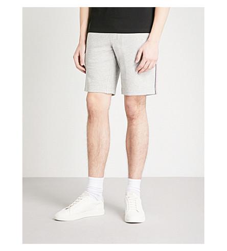 MONCLER Stripe-trim cotton-jersey shorts (Grey