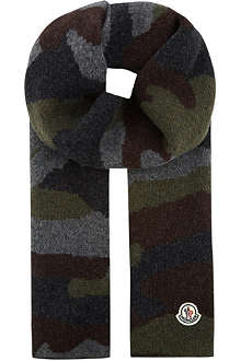 MONCLER Camo knit scarf