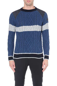 MONCLER Cable-knit wool jumper