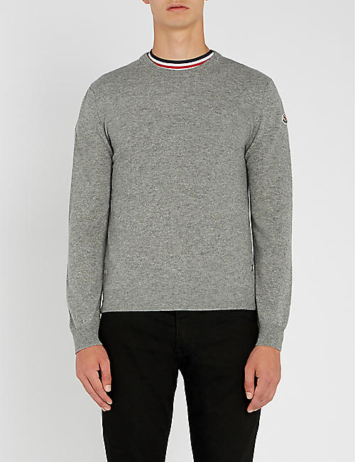 MONCLER Logo-embroidered cashmere jumper