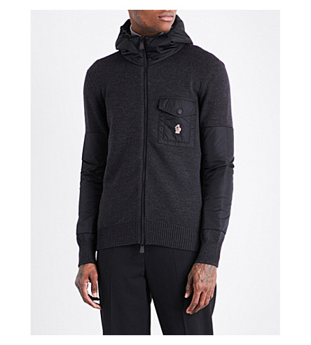 MONCLER GRENOBLE Shell-panelled stretch-wool and shell jacket (Navy
