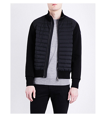 MONCLER Cardi quilted knitted jacket (Black